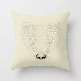 Badger Mood Throw Pillow
