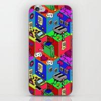 gamer iPhone & iPod Skins featuring Gamer by Ryan GoldLion
