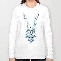 donnie darko Long Sleeve T-shirts featuring Donnie Darko Frank(Blue & Black) by theweendigo