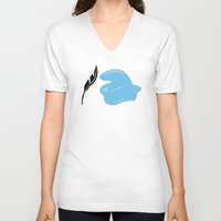 dumbo V-neck T-shirts featuring Dumbo by FilmsQuiz