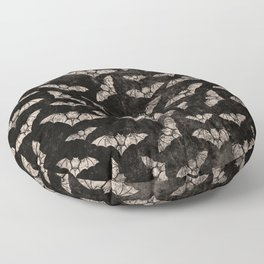 Vintage Halloween Bat pattern Floor Pillow