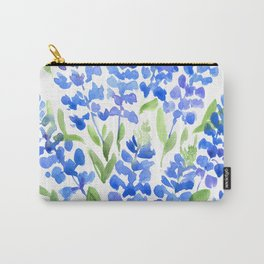 Watercolor Texas bluebonnets Carry-All Pouch