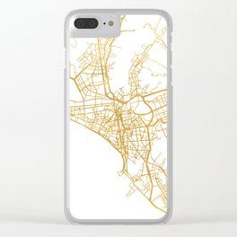 LIMA PERU CITY STREET MAP ART Clear iPhone Case