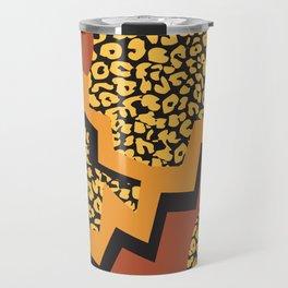 Leopard pattern in 80's style Travel Mug