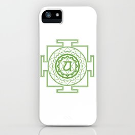 Sri Yantra Heart Chakra iPhone Case