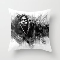 2pac Throw Pillows featuring 2Pac Illustration by Skillmatik by Mr Skillmatik