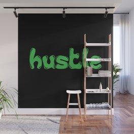 Hustle Green Wall Mural