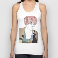 introvert Tank Tops featuring introvert girl by Katharina Nachher