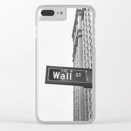 Wall street bw Clear iPhone Case