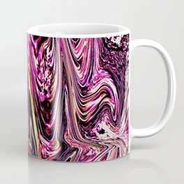 waves of a pink ocean abstract painting Coffee Mug