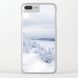 Vermont Winter View Clear iPhone Case