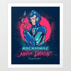 Mecha Dragon Art Print
