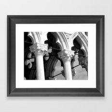 Flower details and arches of the Doges Palace Framed Art Print