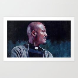 Father Gabriel With His Bible - The Walking Dead Art Print