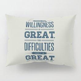 Lab No. 4 Where The Willingness Niccolo Machiavelli Inspirational Quotes Pillow Sham