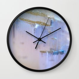 Selenite Wall Clock