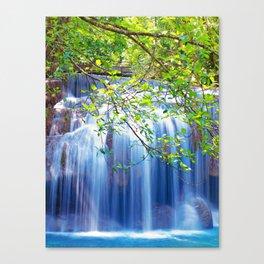 Erawan waterfall Canvas Print