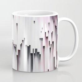 White Black Mauve Cascade Abstract Coffee Mug