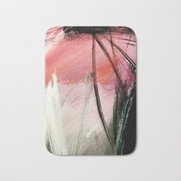 Train of thought: a vibrant abstract mixed media piece Bath Mat