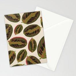 Maranta leaves Stationery Cards