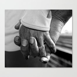 Old Married Hands Canvas Print