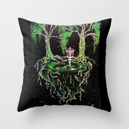 Swamp Discing Throw Pillow