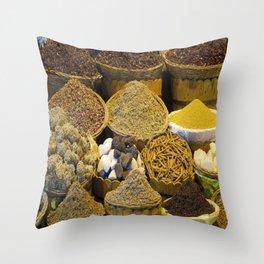 Egyptian Spices Throw Pillow