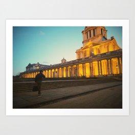 London views | University of Greenwich | Night times | Photography Art Print