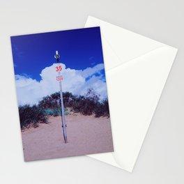 Mint beach II Stationery Cards