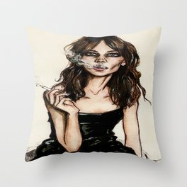 Alexa Chung Throw Pillow