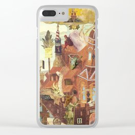 """""""Reconstruction of Cuaxies"""" Clear iPhone Case"""