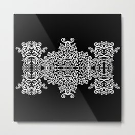 black and white vintage pattern II Metal Print