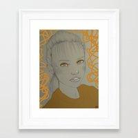 gemma correll Framed Art Prints featuring Gemma, 2015 by carolinemills