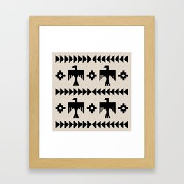 Southwestern Eagle and Arrow Pattern 123 Framed Art Print