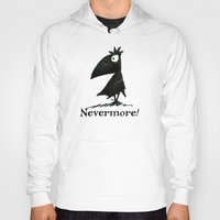 edgar allen poe Hoodies featuring Nevermore! The Raven - Edgar Allen Poe by Paul Stickland for StrangeStore