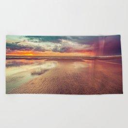 Beach Love Ocean Sunset Beach Towel