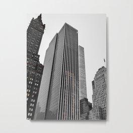 Grey Glass Buildings Metal Print