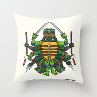 tmnt Throw Pillows featuring TMNT by Artifact Supply