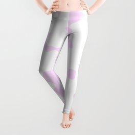 Large Spots - White and Pastel Violet Leggings