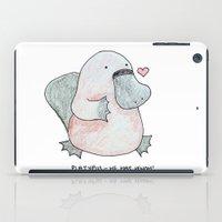 platypus iPad Cases featuring Platypus by Daynasdoodleydoos