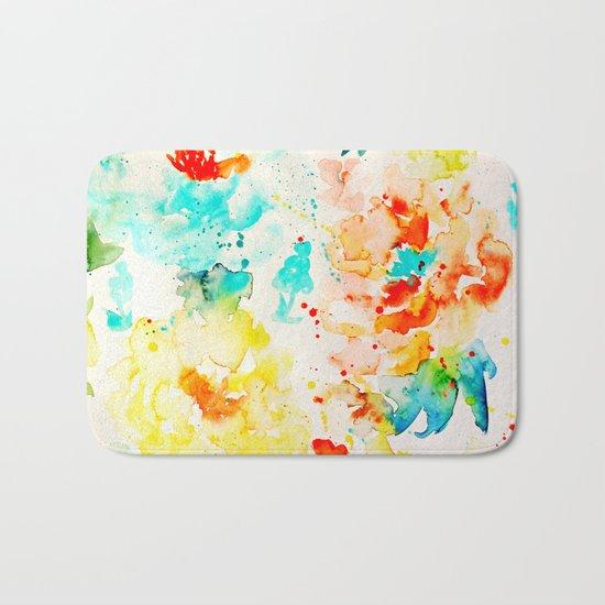 Abstract Flowers 05 Bath Mat