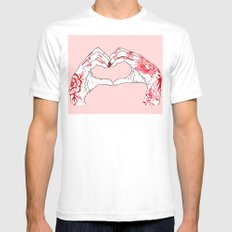 I Heart You Mens Fitted Tee MEDIUM White