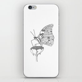Butterfly, One Liner iPhone Skin