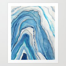 AGATE Inspired Watercolor Abstract 02 Art Print