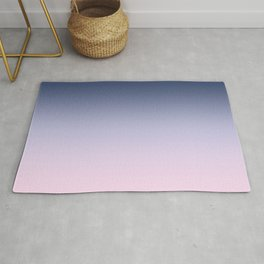 Blue Lilac Millennial Pink Ombre Gradient Pattern Rug