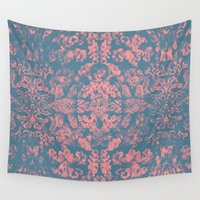 coral Wall Tapestries featuring Coral by Pepe Psyche