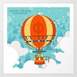 Wind Travel Art Print