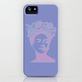frida kahlo (purple version) iPhone Case