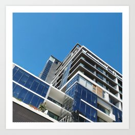 Modern Architectural Zig Zag in Cape Town, South Africa Art Print
