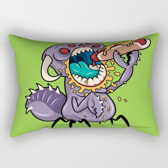 Om Nom Alien Bug Rectangular Pillow